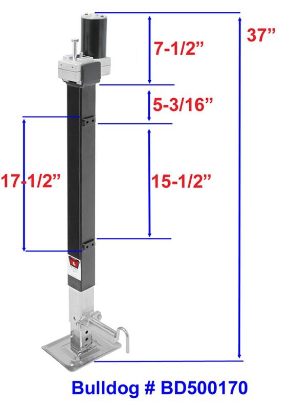Bulldog Electric Landing Leg Kit (Pair)