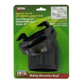 Valterra Hose Adapter, 45°, Black