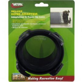 Valterra 3″ Hose Adaptor, Black, Rotating